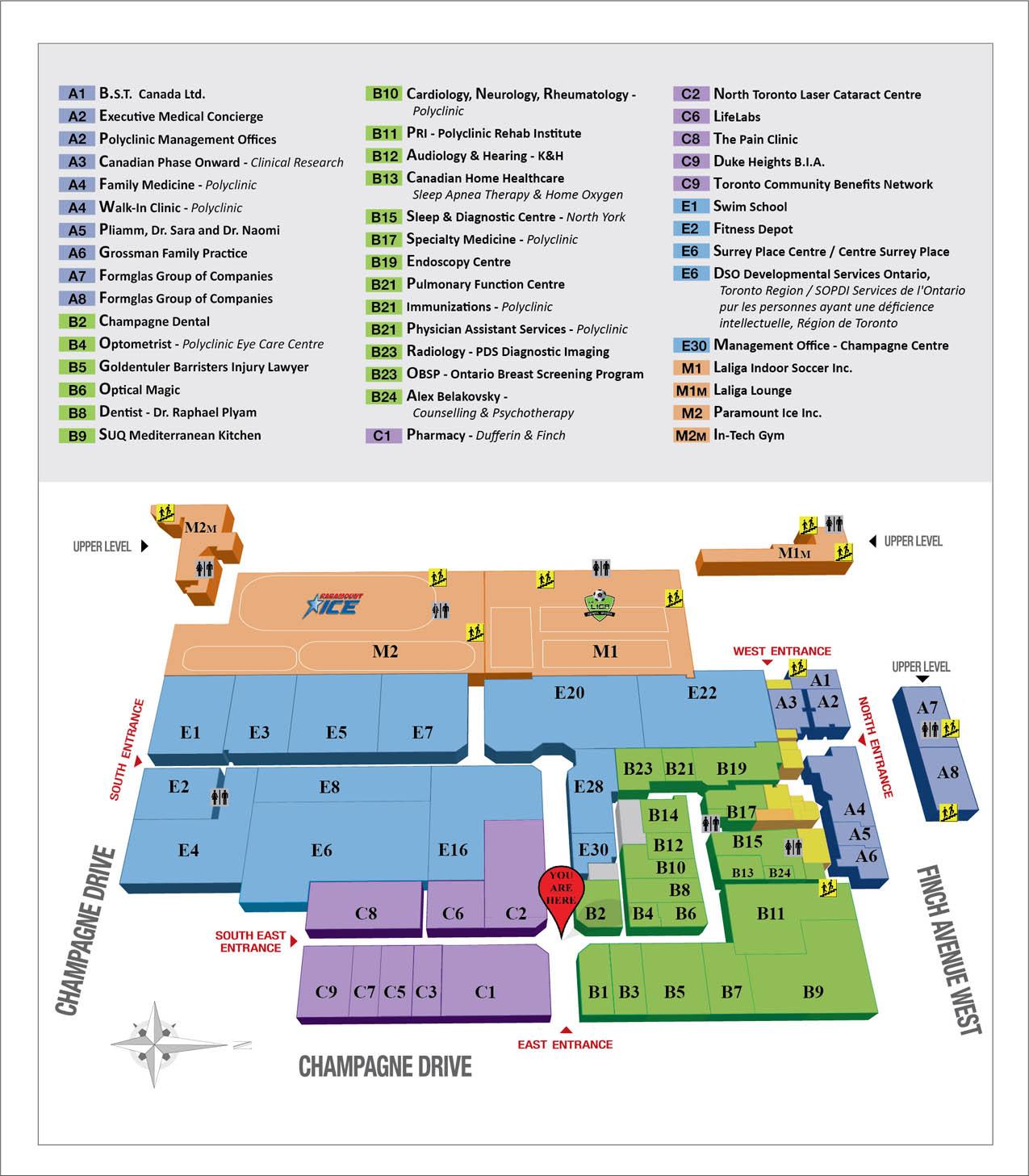 East Map: Polyclinic Centre
